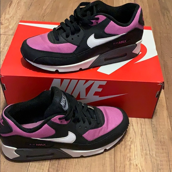 Nike Shoes - Purple and black and white nike air max sneakers a689caec471